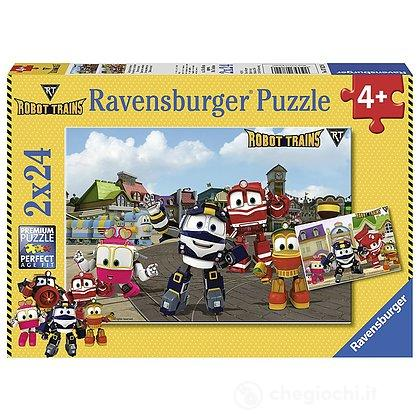 Robot Trains Puzzle 2x24 pz (07822)