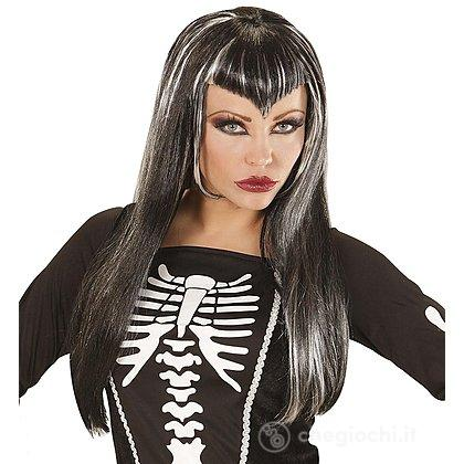 Skeletria Parrucca Halloween