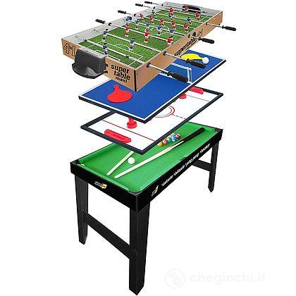 Tavolo 4 in 1 maxi 4vs4 (calcetto, ping pong, carambola, hockey) (706200206)
