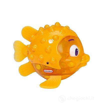 Pesce scintillante spruzza acqua giallo (9038008)