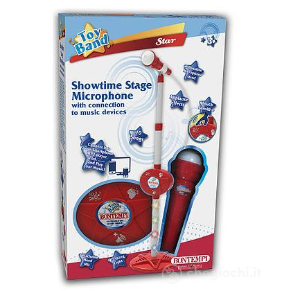 40 0910 - Microfono Da Palcoscenico Con Asta Regolabile