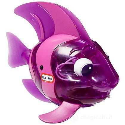 Pesce scintillante spruzza acqua viola (9038008)