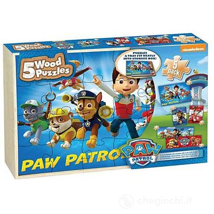Paw Patrol 5 wood puzzle box
