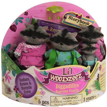 Li'L Woodzeez famiglia Procione (6004M)