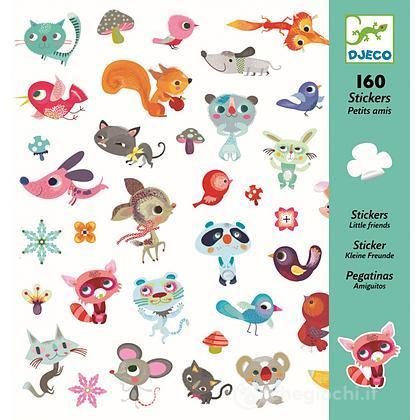 160 Adesivi Piccolo amici animali (DJ08842)