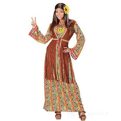 Costume Adulto donna hippie L