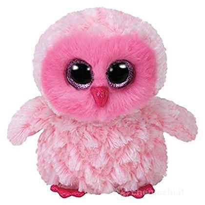 Peluche twiggy gufo pink bianco 15 cm beanie boo 36846 - Peluches a 1 euro ...