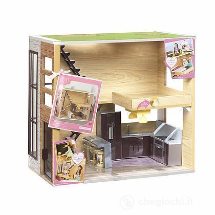 Casetta in legno bambole (LO37004Z)