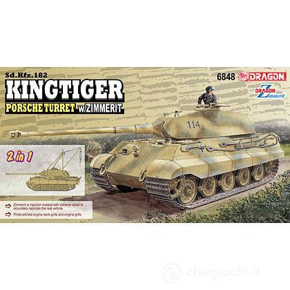 Carro Armato KINGTIGER PORSCHE W/ZIMMERIT 1/35 (DR6848)
