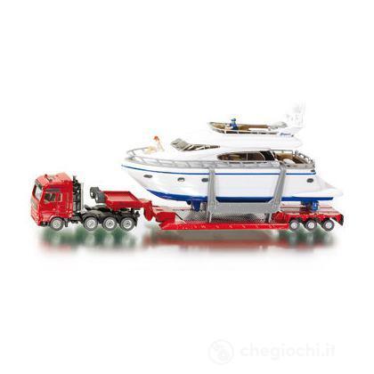 Camion con rimorchio e yacht 1:87