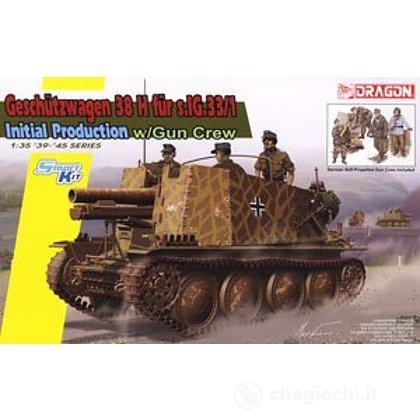 Carro Armato SD.KFZ.138/1 GESCHUTZWAGEN 38H FUR.S.IG33/1 INIT. PROD. 1/35 (DR6857)