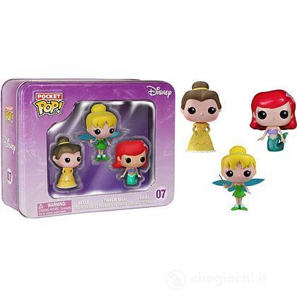 Disney - Confezione 3 Personaggi Ariel, Campanellino e Belle (4860)
