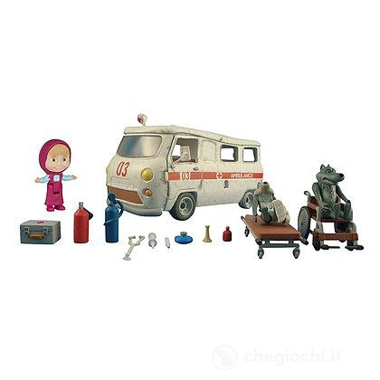 Playset Ambulanza Masha con personaggi e tanti accessori (109309863)