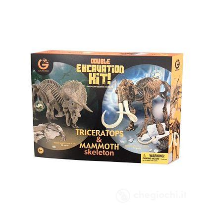 Double Excavation Kit Triceratopo e Mammut