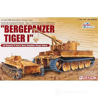 Carro armato Bergepanzer tiger I mit borgward IV 1/35 (DR6865)