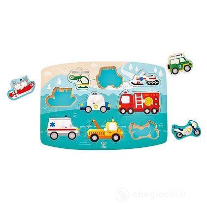 Puzzle dei mezzi di emergenza con piedini (E1406)