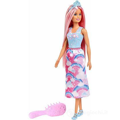 Barbie dreamtopia principessa dell/'arcobaleno chioma da favola mattel nuova