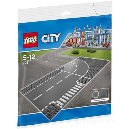 Incrocio a T e curva - Lego City Supplementary (7281)