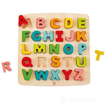Puzzle legno alfabeto lettere maiuscole (E1551)
