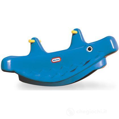 Balena a dondolo blu