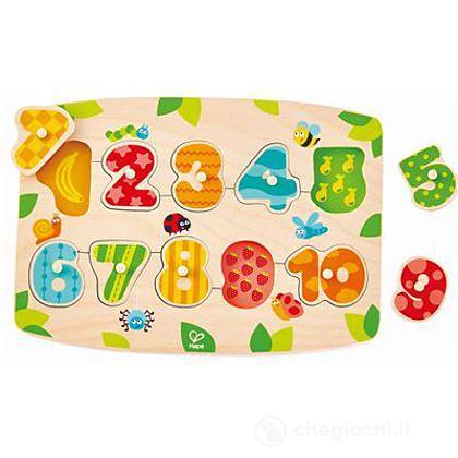 Puzzle dei numeri con piedini (E1404)