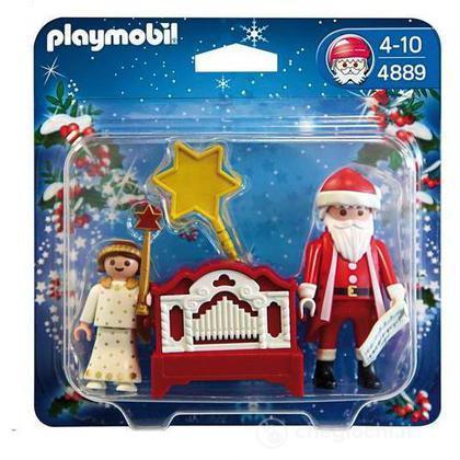 Babbo Natale con angioletto (4889)