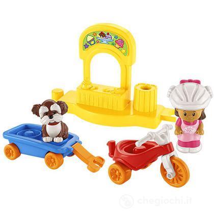 Triciclo e carretto - Veicoli Little People (Y8203)