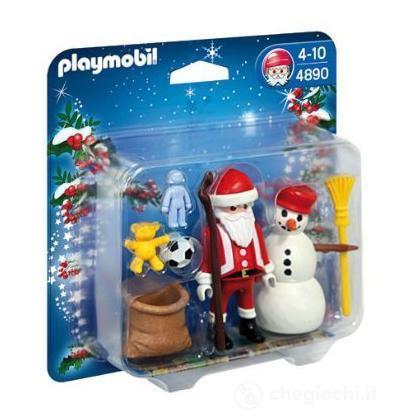 Babbo Natale con pupazzo di neve (4890)
