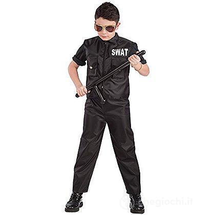 Costume polizia squadra speciale tg.VII 11-13 anni (65895)
