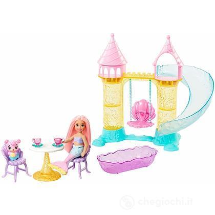 Barbie Dreamtopia Bambola Chelsea Sirena playset castello (FXT20)