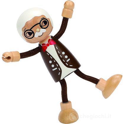 Bambola di legno nonno (E3503)