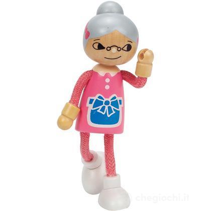Bambola di legno nonna (E3504)