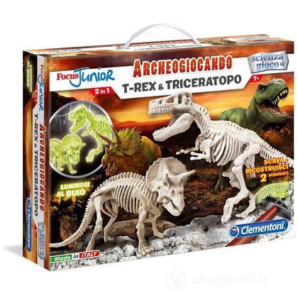 Focus. T-Rex e Triceratopo (13902)