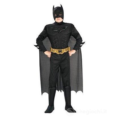 Costume Batman deluxe con muscoli L 8-10 anni
