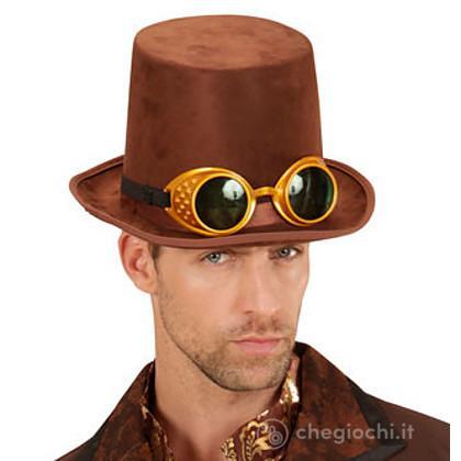 Cappello Cilindro Steampunk con occhiali