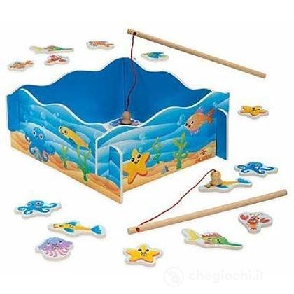 Getta L'esca, Gioco pesca in legno (53910)