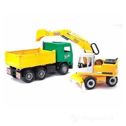 Camion ed escavatore gommato (2911)