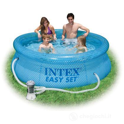 Piscina rotonda Easy Clearview cm 244x76 con pompa filtro (54912)