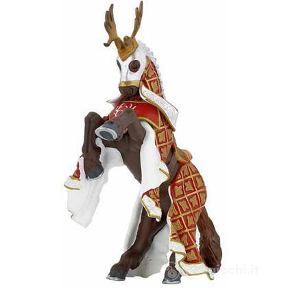 Cavallo cavaliere maestro d'armi criniera cervo (39912)