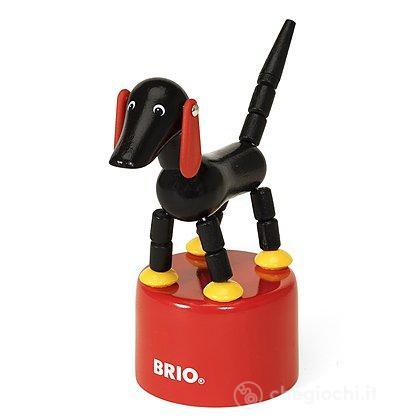 Sampo cane in legno a molla (31912)