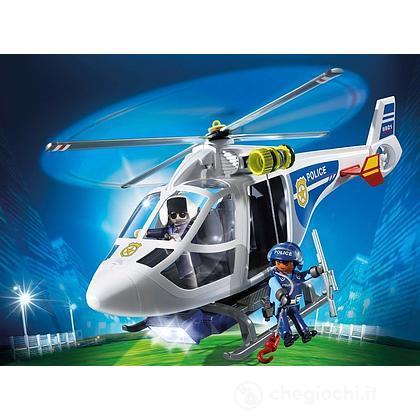 Elicottero Della Con Avvistamento 6921 Polizia Playmobil Luce Di tsrxhdCQ