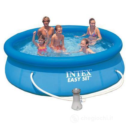 Piscina rotonda Easy Set cm 305x76 con pompa filtro (56922)