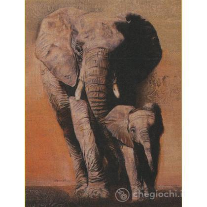 Maestosi Elefanti - Legno