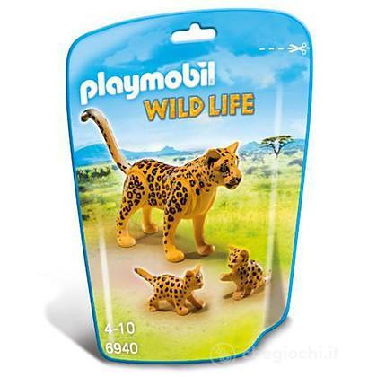 Leopardo con cucciolo 6940