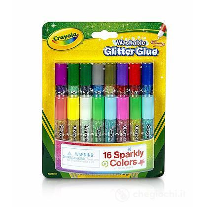 16 Mini Colle Glitter Lavabili