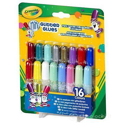 16 Mini Colle Glitter Lavabili
