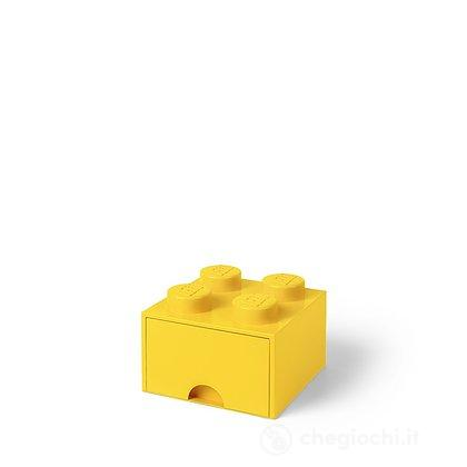 Contenitore LEGO Brick 4 Cassetto Giallo
