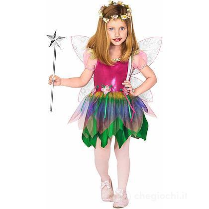 Costume fatina arcobaleno 3-4 anni