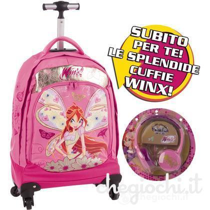 Zaino trolley deluxe Winx con gadget