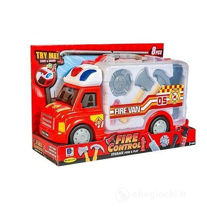 Camion Valigetta Pompieri con Accessori luci e suoni